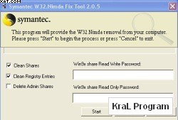W32.Nimda.A@mm Removal Tool