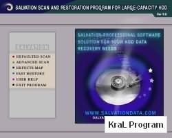 HDD Scan and Restoration Program