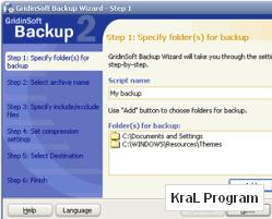 Yedekleme Programi GridinSoft Backup 2.3