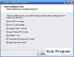 Codec 2000 XP 2003 Vista icin 8.1 build 11