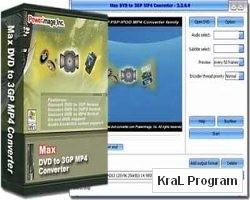 Max DVD to 3GP 3GP2 MP4 Converter 3.2