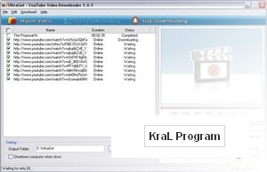 Youtube video indirici UltraGet Downloader