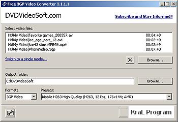 Free 3GP Video Converter 3.1.1