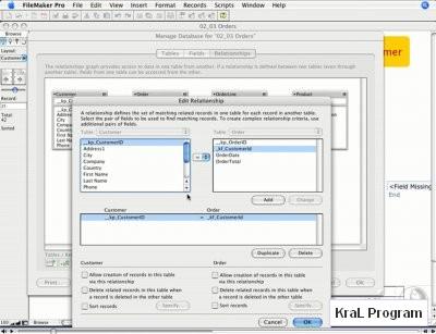 Veritabani programi FileMaker Pro 9