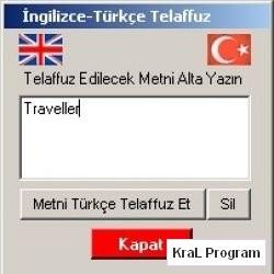 Ingilizce Turkce Telaffuz 1.0