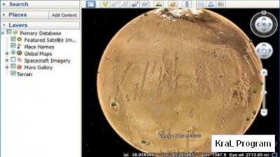 Google Earth 5 (Mars)