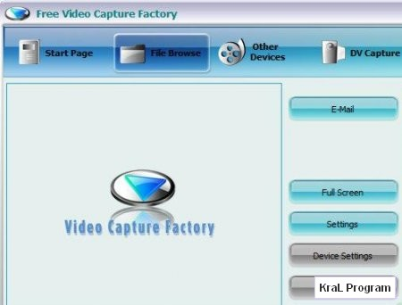 Video Capture Factory 7.1.0.0005 Goruntu kaydetme programi