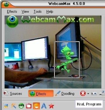 WebcamMax 5.1.2.2 Kamera efekt programi