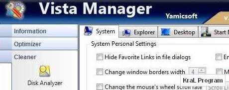 Vista Manager 3 Windows hizlandirma programi