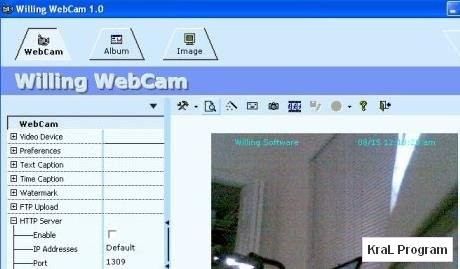 Willing Webcam 4.8 kamera yayinlama programi