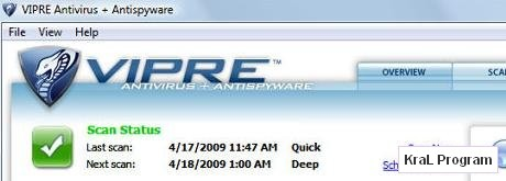 Vipre 3.1.2775 Virusleri silme programi