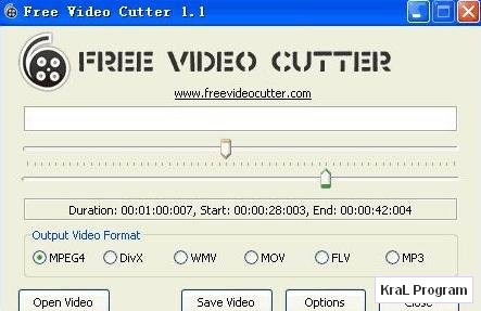 Free Video Cutter Video kesme programi
