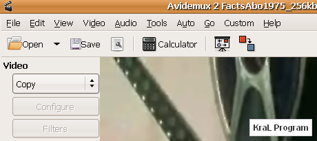 Avidemux 2.5.0 Video kesme programi