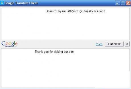Google Translate Client Ceviri Programi