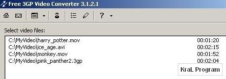 3GP Video Converter 3.2.1.54