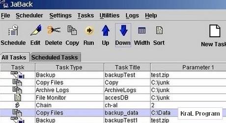 JaBack 8.26 Yedekleme Programi