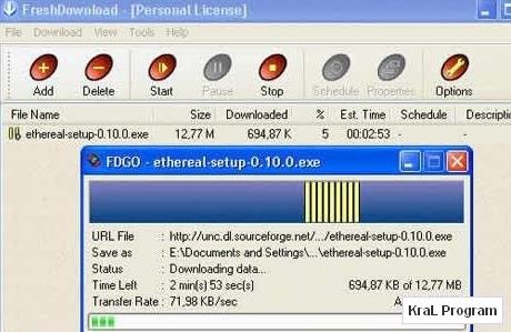 Fresh Download 8.34 Dosya indirme programi