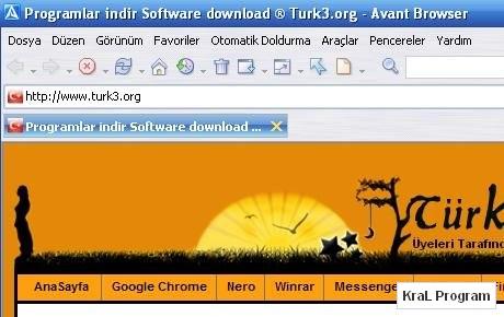 Avant Browser 11.7 38 Internet Tarayici