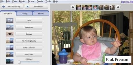 Picasa 3.5 Resim duzenleme programi