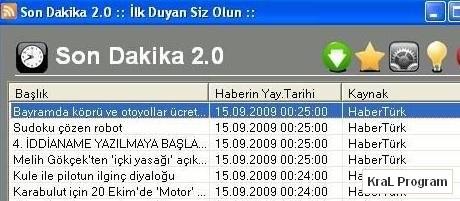 Son Dakika Haber Programi 2.0