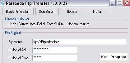Parsanda Ftp Transfer Yazilimi 1.0.0.27