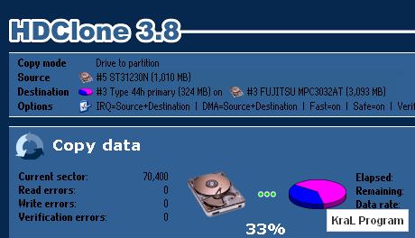 HDClone Free Edition 3.8.2 Harddisk Yedekleme Programi