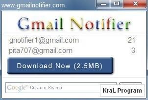 Gmail Notifier 1.0.0.67 ucretsiz gmail kontrol programi