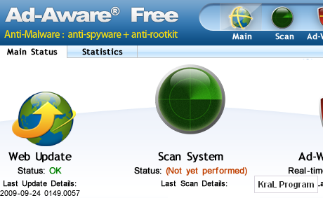 Ad-Aware Free 8.1.0 ile Casus uygulamalari kaldirmak