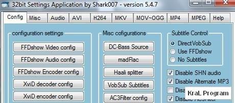 Vista Codec Package 5.4.7 codec paketi