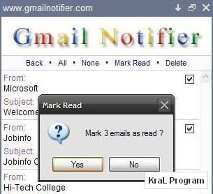 Gmail Notifier 1.0.0.72 Gmail programi