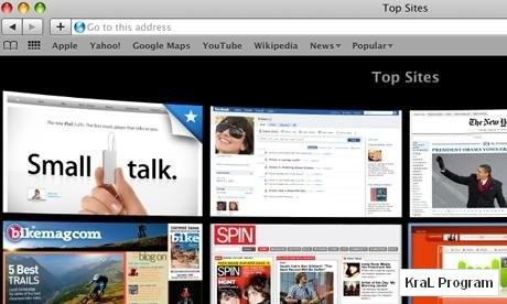 Safari 4.0.4 Internet Tarayicisi