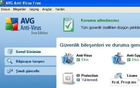 AVG Antivirus Free Edition 9.0.707a1765 Virus programi