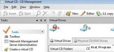 Virtual CD 10 .0.0.3 Sanal surucu olusturma programi