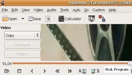 Avidemux 2.5.2 Video duzenleme programi