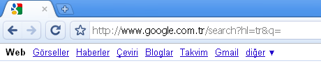 Google Chrome 4.0.295.0 Turkce internet tarayicisi