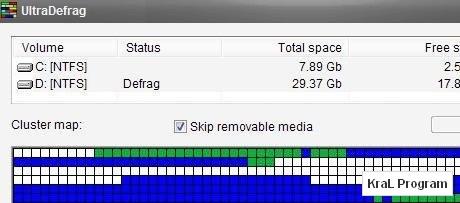 UltraDefrag 4 Disk birlestirme programi
