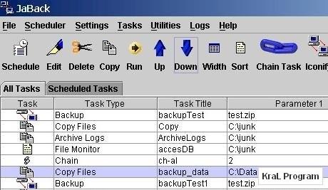 JaBack 8.35 Ucretsiz yedekleme programi
