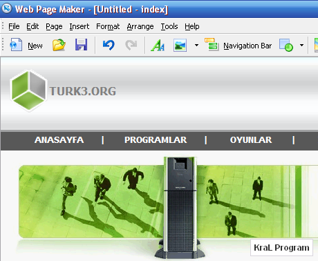 Web Page Maker 3.21 Kolay site yapma programi