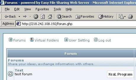 Easy File Sharing Web Server 5.2 Internet sunucusu
