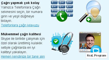 Skype 4.2.0.155 Internetten telefon gorusmesi yapma