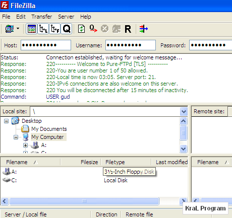 FileZilla 3.3.2.1 Ucretsiz ftp programi