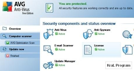 AVG Antivirus Free Edition 9.0.798 ucretsiz virus programi