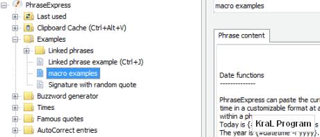 PhraseExpress Autotext 7.0.151 Metin makro programi