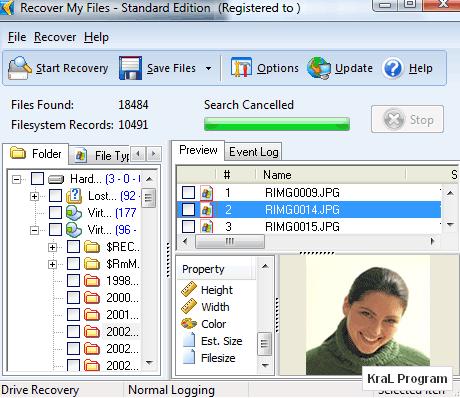 Recover My Files 4.5.2.721 Veri kurtarma programi