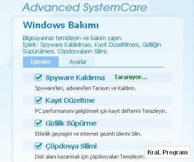 Advanced SystemCare 3.5.1 Windows hizlandirici