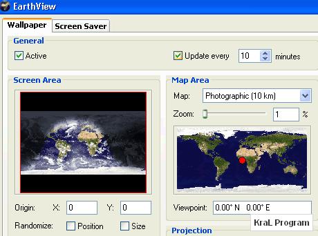 EarthView 3.11.3 Otomatik masaustu ekran koruyucusu