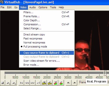 VirtualDub 1.9.9 Video duzenleme editoru