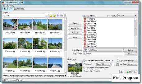 FastStone Photo Resizer 3.0 Ucretsiz resim duzenleyici