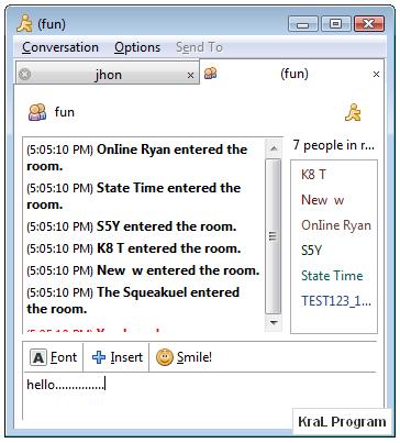 Pidgin 2.7.0 Çoklu sohbet programı