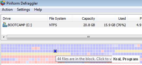 Defraggler 1.19.192 Dosya ve disk birleştirici